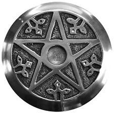 Pentagram Altar Tile Aluminum Incense Cone Stick Sage Burner FREE SHIPPING Wicca