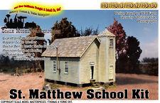ST. MATTHEW's SCHOOL HOUSE KIT Scale Model Masterpieces/Yorke HO Fine otsx01