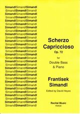 Simandl: Scherzo Capriccioso Op.72 for double bass & piano RM595