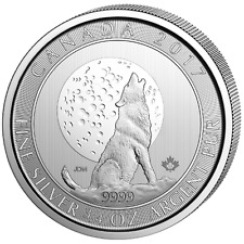 3/4 oz Canada Howling Wolf 2017 wolf and Moon 999 Silber Silbermünze