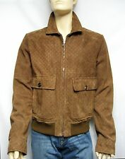 $4,200 GUCCI 50 60 Suede Leather Men Moto Biker Jacket Coat Italy Holiday Gift