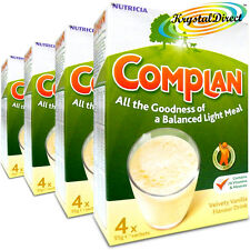 4x Nutricia Complan Vanilla Flavour Vitamin Mineral Energy Drink 4 Sachets