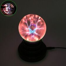 Magic Novelty USB Plasma Ball Touch Sensitive Lamp Light Lightning Butterfly