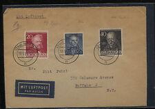 Germany  695, 9N90, 9N93  on cover to US            KL0902