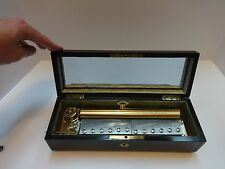 VINTAGE REUGE 144 NOTE MUSIC BOX IN ANTIQUE MUSIC BOX CASE (WATCH VIDEO)