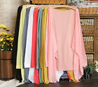 Style Womens Casual Long Sleeve Cardigan Very Thin Sweater Coat Outwear Tops