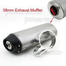 38mm Mute Silence Quiet Exhaust Muffler 125 140cc 150cc 160cc ATV Pit Dirt Bike