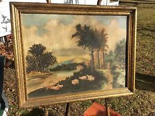 richard Hoge  oil painting sheep herder in landscape