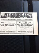 64-3 Ephemera 1939 Advert Falmouth St George's Joan Blondell Off The Record