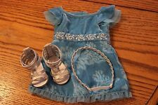 Diva Kanani American Girl of the Year Party Dress Outfit silver blue euc Complet