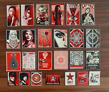 OBEY 47 RARE STICKER COLLECTION : SHEPARD FAIREY : ARAB WOMAN, MUFER FATAL +++