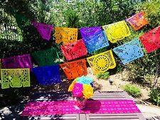 Mexican Papel Picado Banner- LARGE Paper Multicolor, All Ocassion, Fiesta decor.