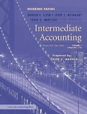 Intermediate Accounting: Working Papers, 12th Edition