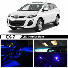 10x Blue Interior LED Lights Package Kit for 2007-2012 Mazda CX-7 CX7