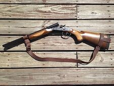 """1 1/4"""" Leather Coach Gun Sling  Winchester H&R Browning Moss Remington NO DRILL"""