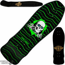 "POWELL PERALTA ""Geegah Ripper"" Skateboard Deck 9.75"" GREEN Old Skool 1980s Pool"