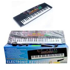 Black Electronic Musical Keyboard Organ 54 Keys Piano 54 keys with Mic Adoptor