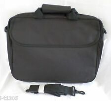 "16"" BLACK CANVAS LAPTOP/NOTEBOOK MESSENGER BAG SHOULDER CROSSBODY"