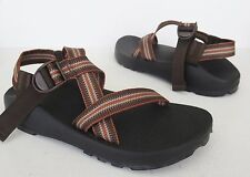 Men's CHACO Z/1 Classic Brown Orange Water Hiking Vibram Sport Sandals size 11
