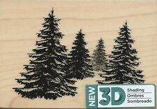 "3D Shading ""Pine Trees"" Rubber Stamp by Spellbinders"