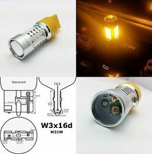 W21W 7442 T20 580 YELLOW 16W HIGH POWER LED INDICATOR CAR BULB