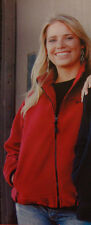 BIG DOG MOTORCYCLES LADIES POLAR FLEECE EMBROIDERED JACKET RED SMALL BDM
