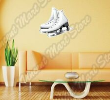 "Figure Skating Ice Dancing Skates Wall Sticker Interior Decor 25""X22"""