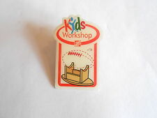 Cool Vintage Home Depot Kids Workshop Upside Down Football Table Pin Pinback
