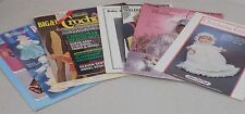 7 Vintage Crochet Pattern Leaflets & Magazines - Dolls, Wedding, Mens, Babies