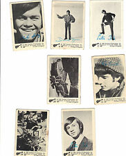 MONKEES -- ABC -- British trading cards -- 1967 -- 7 different -- scarce