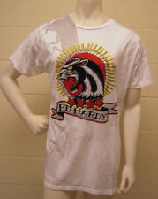 Ed Hardy Rare Panther Rhinestones White T Shirt (L) NEW