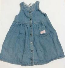 ♥Pre-loved Authentic Oshkosh Bgosh baby girl denim dress 4T