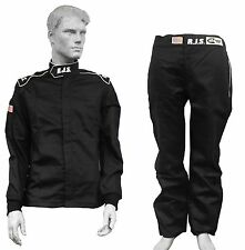"RJS RACING EQUIPMENT ""ELITE"" FIRE SUIT 3-2A/1 BLACK 2 PIECE  MED LRG XL 2X 3X 4X"