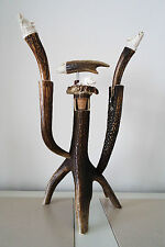 Wine Deer / stag holder 5 pieces, wild boar design,  hand made and hand crafted