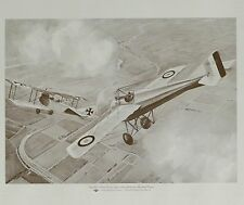 Phillips 66 Historical Aviation Series Plate 18 ~ 1915 Roland Garros' First Vict