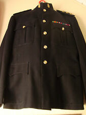 BRITISH ARMY VINTAGE CAPTAINS BLUES No.1 PARADE UNIFORM TUNIC RE-ENACTMENT RARE!