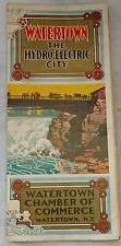 Watertown the hydro electric city pamphlet and Map Watertown New York