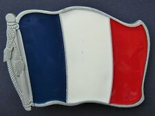 France Français French Paris Drapeau Flag Belt Buckle Boucles de Ceinture
