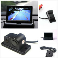 Sound Car Reverse Backup Video Parking Sensor Radar System with Rear View Camera