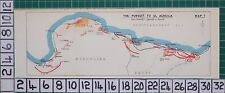 WW2 MAP ~ PURSUIT TO EL AGHEILA MERSA MATRUH ARMED DIVISION FORT CAPUZZO