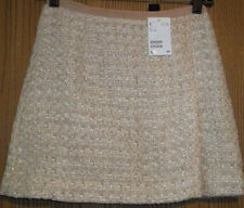 H&M Gold White Skirt Size 4 NEW WITH TAGS