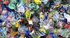3 POUNDS OF MIXED ALL COLOR BLOWN GLASS SCRAPS CHIPS 96 COE CASTING POT MELTS