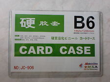 B6 Hard Plastic Card Case, Size : 182 x 128mm