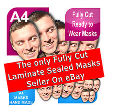 3 Face Masks Personalised Photo Picture Stag Hen Birthday Party Fancy Dress