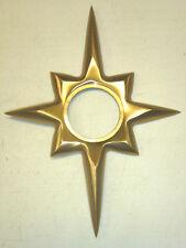 NOS VINTAGE TRIMCO 115 STARBURST DOOR ESCUTCHEON for KWIKSET, SATIN BRONZE, CAST