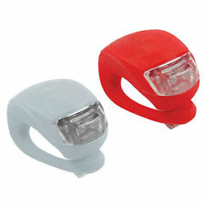 2 Bike LED Flashing Night Safety Warning Road Lamp Clip On Bag Cycle Bicycle