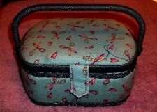 Sewing Basket Storage Vintage Box Plastic Tray Organizer 9W X 71/2 x 4  R
