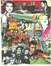 ALL THE STARS COLLAGE 11X16 COLOR POSTER ELVIS.LUCY SHOW JAMES DEAN