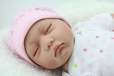 "Realistic Fake Babies Newborn  22"" Real Looking Baby Doll Sleeping Reborn Dolls"