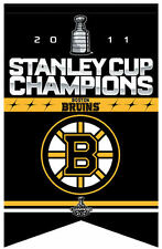 Boston Bruins 2011 Stanley Cup Champions Felt Banner Flag